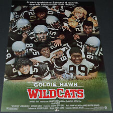 WILDCATS 1986 ORIGINAL 24x33 DANISH MOVIE POSTER! GOLDIE HAWN FOOTBALL COMEDY!