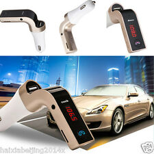Bluetooth Car Handsfree FM Transmitter Radio MP3 Player USB Charger AUX Red LED