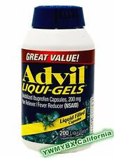 Advil Liqui-Gels 200mg 200 Tablets Pain Reliever/Fever Reducer, #(GREEN)