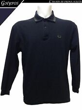 POLO UOMO MADE IN ITALY - FRED PERRY - TG. 42 - MAN'S LONG SLEEVES SHIRT #1422