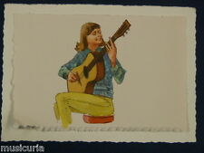 ak~ handmade greetings / birthday card 60s GUITAR ILLUSTRATION