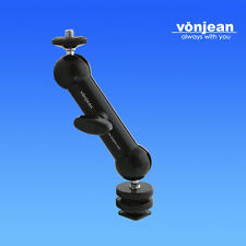 "vonjea 5.5"" Articulating Magic Hot Shoe Arm For LCD Camera Flash light tablet pc"