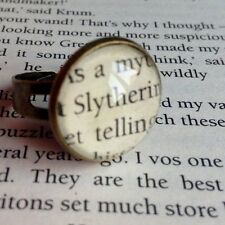 VINTAGE STYLE HARRY POTTER SLYTHERIN HOGWARTS ALTERED BOOK QUOTE RING
