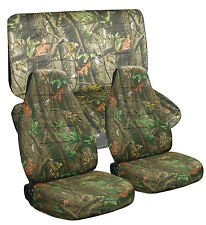 1989-1997 Geo Tracker Camouflage Seat Covers Canvas Front & Rear Choose color