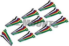 "60 x 6"" Mix Colors Cable Ties Straps Reusable Hook Loop Wire Strap Tie"