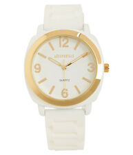 Aeropostale Solid Rubber Watch White