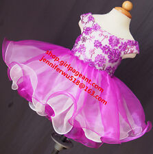 Infant/toddler/kids/baby/children Girl's Pageant/prom Dress/clothing 2T EB1130G