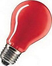 2 x  Glühlampe E27 25W ROT Normalform f. Partybeleuchtung