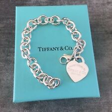 Please Return to Tiffany & Co Silver Heart Tag Bracelet