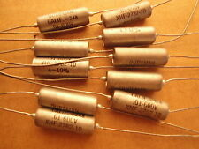 10 EA GUDEMAN .01UF 600V PIO Paper In Oil Audio Capacitors