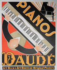 """""""Pianos"""" Lithographic Poster by Andre Daude"""