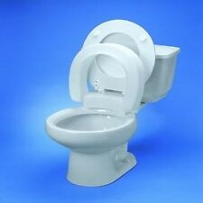 HINGED RAISED ELEVATED TOILET COMMODE SEAT RISER AID