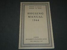 1944 HOUSING MANUAL PUBLISHED IN LONDON - MINISTRY OF HEALTH & WORKS - II 8102