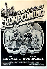 LARRY HOLMES vs. LUCIEN RODRIGUEZ / Original Onsite Vintage Boxing Fight Poster