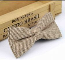 New Vintage Brown Tweed Style  Wool bow tie. Uk Seller. Excellent Reviews.