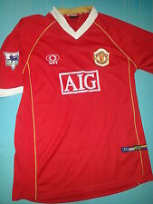 Optimus Manchester United AIG League Soccer/Futball Jersey Shirt Sz Adult Large
