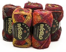 5 x 50g balls Red Mix Noro Silk Garden 4 Ply - sh 341