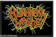 MUNICIPAL WASTE EMBROIDERED PATCH 1 THRASH SLAYER CROSSOVER HAVOK Metal Negro
