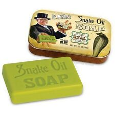 2.5 oz Snake Oil Soap Bar In a Tin Contains Real Cobra Oil Gag Give Novelty Fun