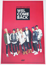 iKON - DEBUT HALF ALBUM [WELCOME BACK] OFFICIAL POSTER (with Tube Case)