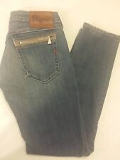 Women's Authentic REPLAY Jeans WV 497G Zipper Pocket Skinny Jeans Size 28x30