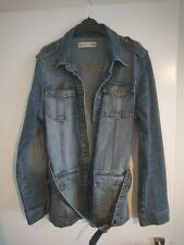 Vigoss Vintage Style Distressed Denim Jean Jacket Size L