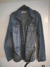 Vigoss Vintage Style Distressed Denim Jean Jacket Size L