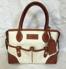RARE! DOONEY BOURKE FLORENTINE VACHETTA LEATHER EAST WEST SATCHEL Handbag Purse