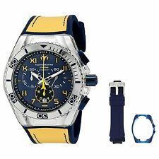 Mens TechnoMarine Cruise California White Blue Silicone Chrono Watch TM-115010