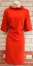 FLORENCE FRED CORAL TERRACOTTA CROCHET TRIM ARM SIDE SMOCK SHIFT TUBE DRESS XL