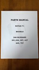 1971 Ski-Doo Blizzard Snowmobile Parts Manual