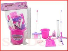 New 9 PC Girls Pink Purple Cleaning Toy Play Set