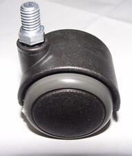Stuhlrolle Hartbodenrolle 50 mm Gewinde 10 mm für Laminat Fliesen Parkett Bremse