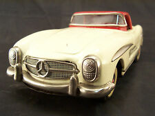 MERCEDES SL MADE IN JAPAN IN LATTA BATTERY OP. TIN TOY NOMURA BANDAI MASUDAYA