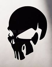 Black Evil SKULL Decal Sticker Vinyl Badge for Fiat Grande Punto Evo Sporting SX