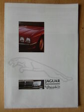 JAGUAR DAIMLER RANGE 1987 UK Mkt Sales Brochure - XJS Sovereign V12 XJR-6 XJ40