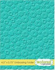 Taylored Expressions ~ A2 Embossing Folder ~ FLOWER POWER  Blooms  ~ TEEF34