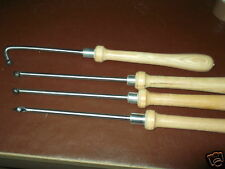 set of 4 carbide woodturning chisels
