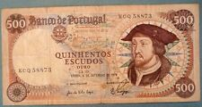 PORTUGAL 500 ESCUDOS NOTE ISSUED 06.09. 1979, P 170 b,  DON  JOAO II