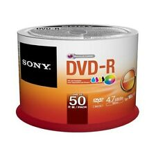 Sony DVD-R 4.7 GB (120min) 16x - Printable Surface (Pack of 50)