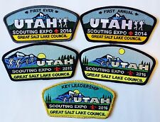 Great Salt Lake Council 2014-2016 Utah Scouting Expo CSP's 5 Mint Patches 1-Rare