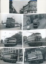 Yorks DONCASTER c1950s? x6 Trolley Bus photographs by Packer