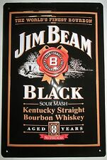 JIM BEAM, Blechschild, WHISKY, BLACK Label, NEU