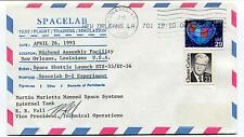 1993 Spacelab test flight training Simulation D2 Experiment Space Cover SIGNED