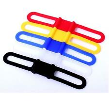 Elastic Bike Bicycle Silicone Band Flashlight Phone Strap Tie Belt Mount Holder