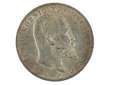 Kaiserreich 5 Mark Silber 1913 F Wilhelm II. König von Württemberg