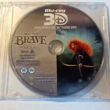 Disney 3D Blu-ray Pixar's Brave Disc ONLY (No Case) Never Used in Perfect Shape!
