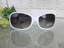 Ladies White Bella Vita 100% UV Protection Sunglasses Silvertone Design New