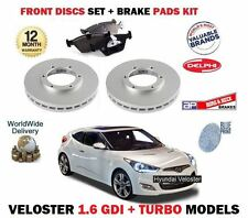 FOR HYUNDAI VELOSTER 1.6 TURBO + GDI 2011--  NEW FRONT BRAKE DISC SET + PADS KIT