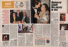 Coupure de presse Clipping 1988 Monserrat Caballe (2 pages)